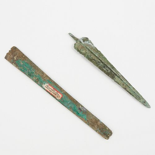 Grp: 2 Early Bronze Spearheads