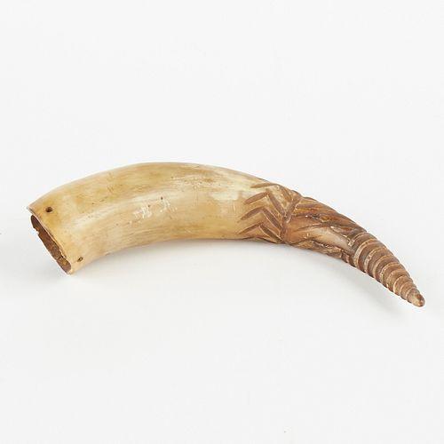 Carved Powderhorn North America
