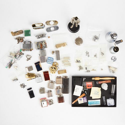 Grp: Large Lot of Assorted Dunhill Lighter Parts