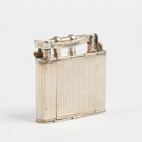 Dunhill Silver Plated Lighter With Compact