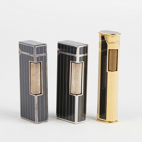 Grp: 3 Dunhill Rollagas Lighters In Box
