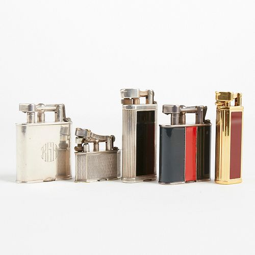 Grp: Dunhill 1930s Swing Arm Lighters