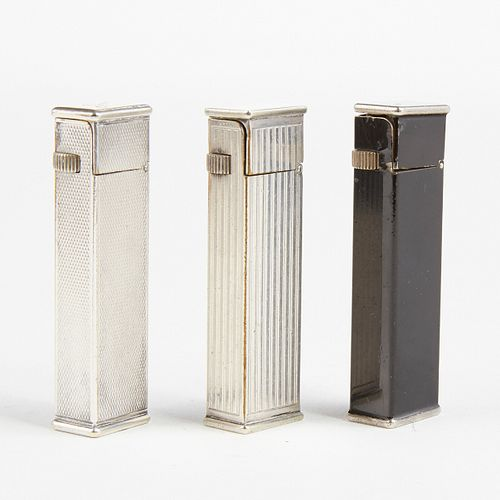 Grp: Dunhill Cartier Licensed Tallboy Lighters