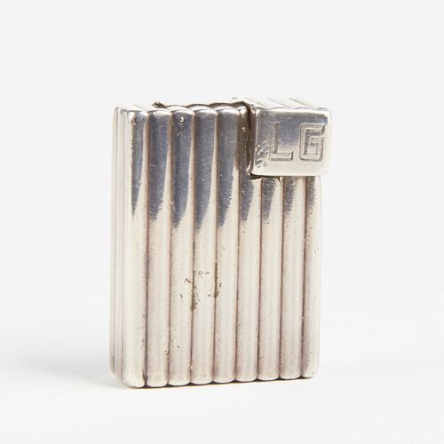 Cartier 1930s Art Deco Solid Sterling Silver Lighter