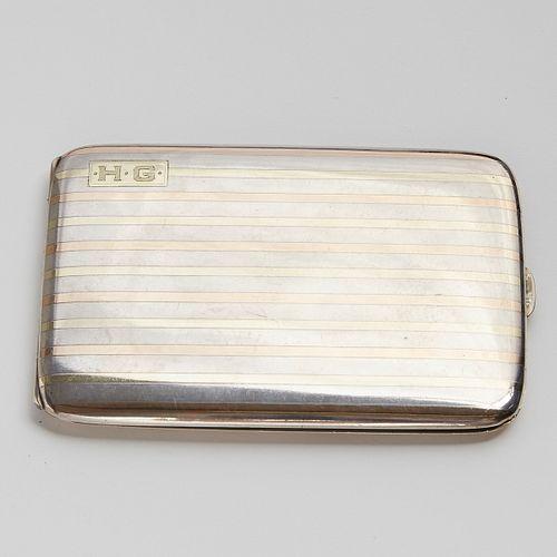 14 Karat Gold And Sterling Silver Cigarette Case - Nora Bayes