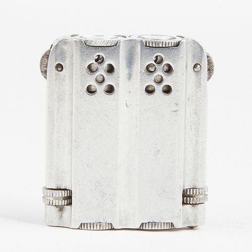 Polish Invention Duplex Tandem Aluminum Petrol Lighter