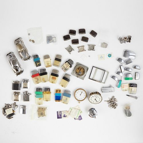Grp: Assorted Lighter & Watch Parts Various Manufacturers