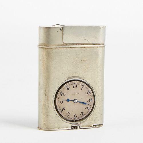 Rare French Alpacca Eterna Watch Lighter