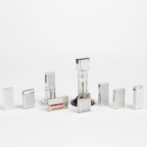 Grp: 9 Vintage Aluminum Lighters