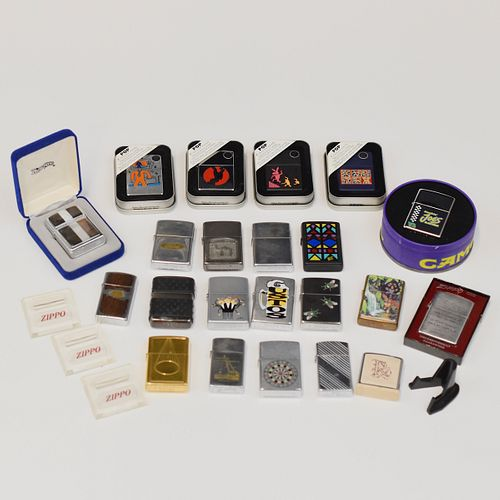 Grp: Zippo Lighters And Display Stands