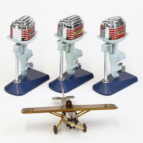 Grp: 4 Swank Lighters Outboard Motor Airplane