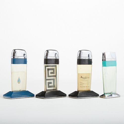 Grp: 4 Scripto Vu-Lighter Table Lighters