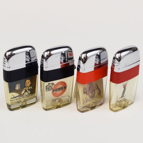 Grp: Scripto Windguard Lighters w/ Tins