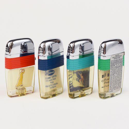 Grp: Scripto Windguard Vu-lighters With Tins