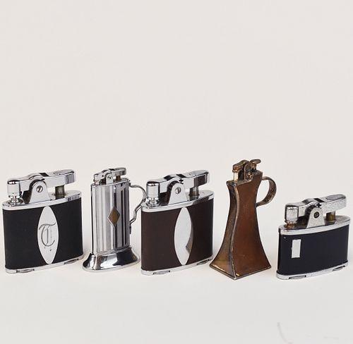 Grp: 5 Ronson Table Lighters Banjo Trophy De-Lite
