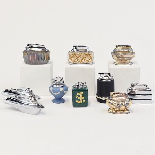 Grp: 10 Ronson Table Lighters