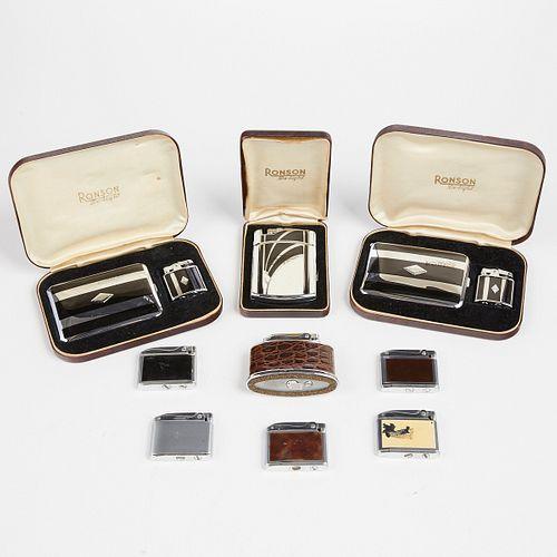 Grp: Ronson Lighters and Cigarette Cases Adonis Senator