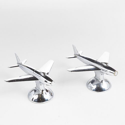 """Grp: 2 Dunhill """"Jet Plane"""" Table Lighters"""