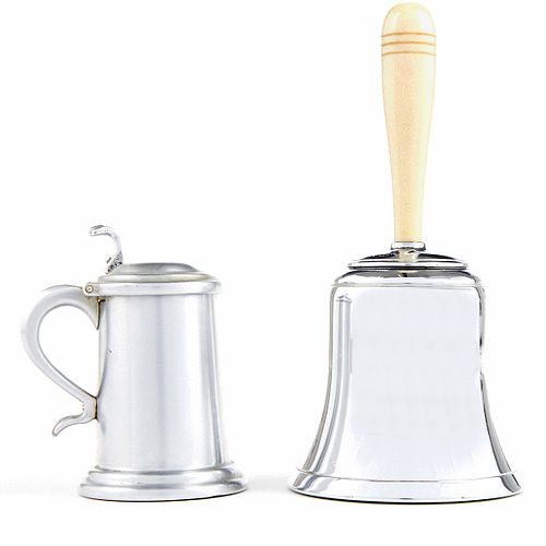 """Grp: Dunhill """"The Bell"""" And Beer Stein Table Lighters"""
