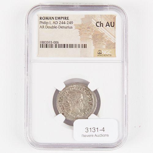 Roman Double Denarius Philip I 244-249 CE