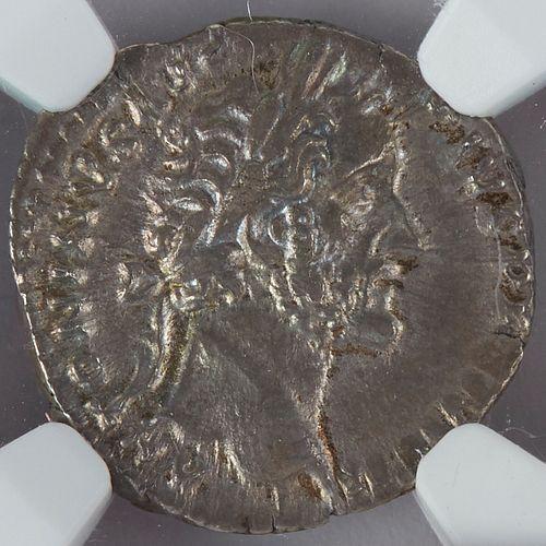 Coin Roman Silver Denarius Antoninus Pius 138-161 CE