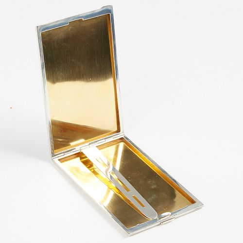 Tiffany And Co. Sterling Silver Cigarette Case (Signed)