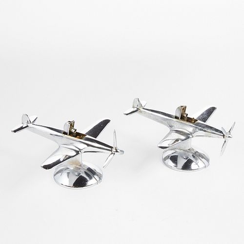 Grp: 1940s Negbaur P-51 Mustang Airplane Table Lighters