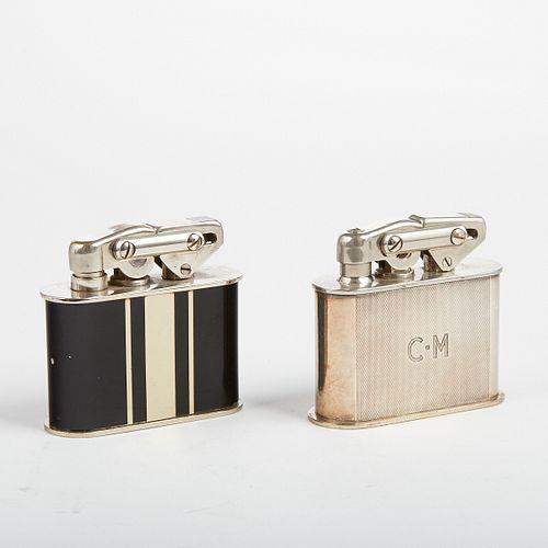 Grp: Karl Wieden Table Lighters Black Enamel Silver Plated