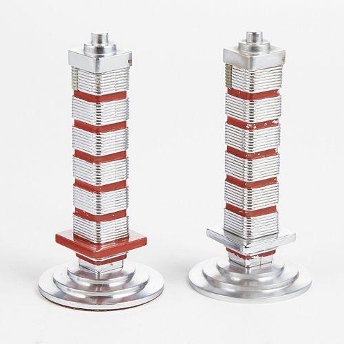 Grp: 2 Johnson's Wax Frank Lloyd Wright Lighters