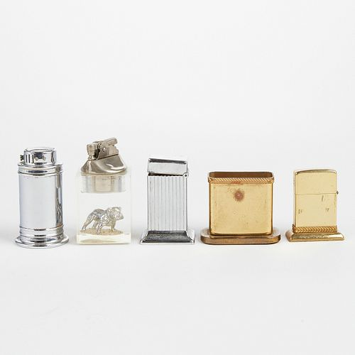 Grp: 5 American Table Lighters - Parker Chase Park Sherman
