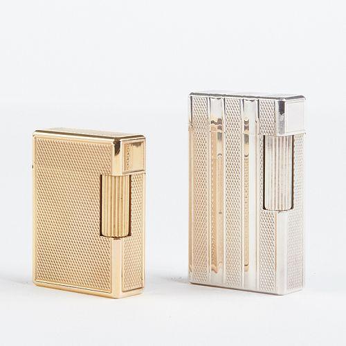 Grp: 2 Vintage S.T. Dupont Lighters - w/ boxes
