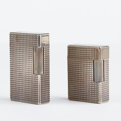 Grp: S.T. Dupont Silver Plated Lighters