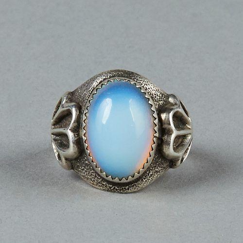 Tommy Jackson Navajo Sterling Moonstone Ring