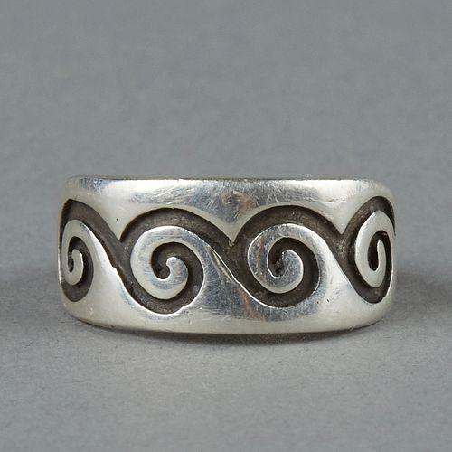 Kenneth Begay White Hogan SW Navajo Sterling Silver Ring
