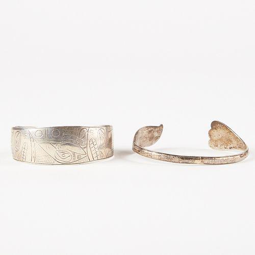 Grp: 2 Pacific Northwest Coast Silver Bracelets
