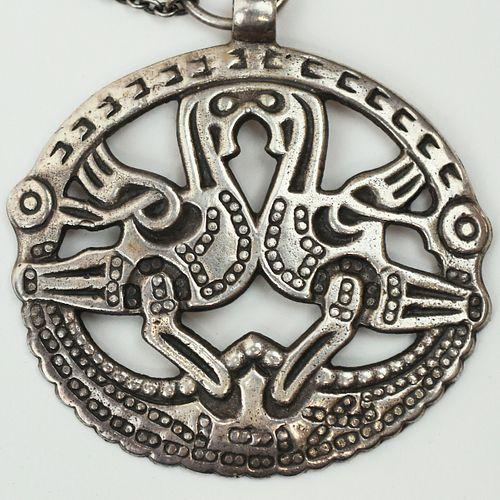 Kalevala Koru Finnish Sterling Silver Viking Pendant
