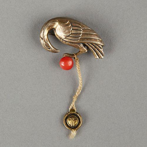 Theodore Fahrner German Silver Bird Pin
