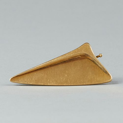 Important Georg Jensen 18K Gold Modernist Brooch