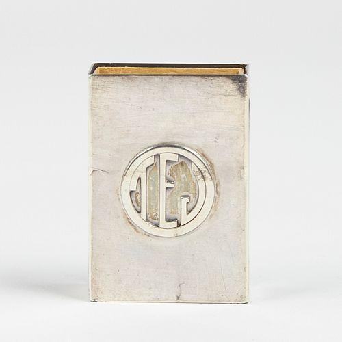 TC Shop Chicago Arts & Crafts Era Sterling Matchbox Holder