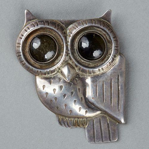 William Spratling Taxco Silver Owl Brooch