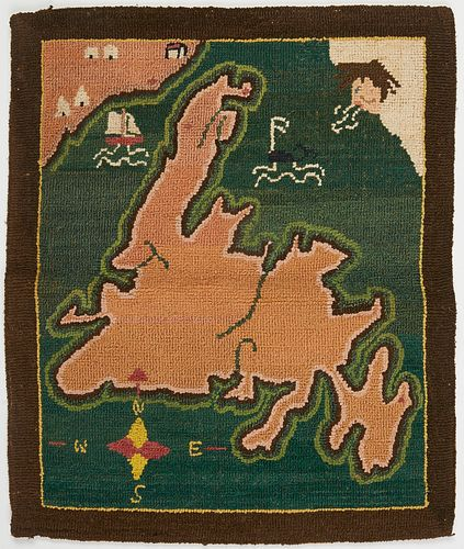 Grenfell Labrador Industries Map Hook Rug Mat
