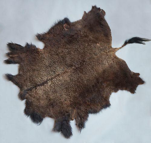 Montana Wild American Bison Fur Hide Rug