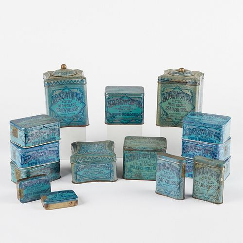 Grp: 15 20th c. Edgeworth Tobacco Tin Containers