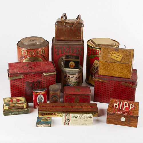 Grp: 18 20th c. Chewing Tobacco Tin Containers
