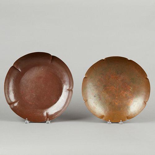 Grp: 2 Chicago Arts & Crafts Copper Bowls - Charles Didrich Kalo & A. G. Barton