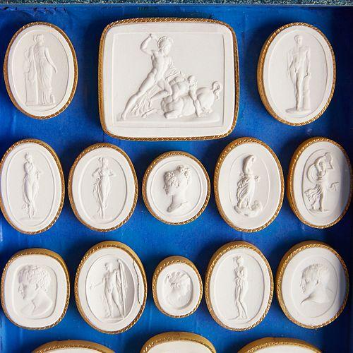19th c. Paoletti Grand Tour Opera di Canova Plaster Intaglios