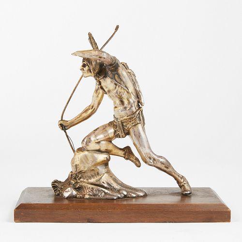 A.J. Flauder Weidlich Bros Native American Metal Sculpture