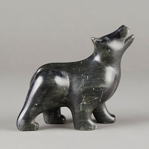 Mid 20th c. Inuit Canada Zoomorphic Bear Stone Carving