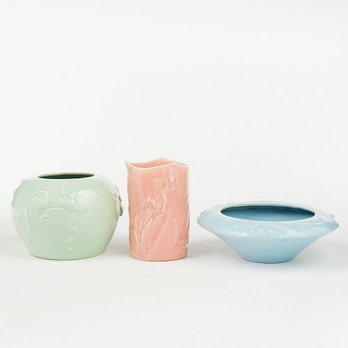 Grp: 3 Vernon Kilns Pottery Disney Fantasia Vases