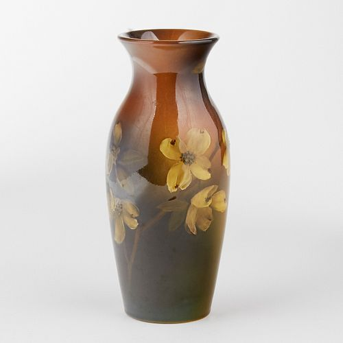 Rookwood Pottery Flowering Dogwood Vase 1897 - Baker